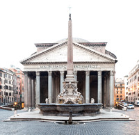 Fountain at the Pantheon